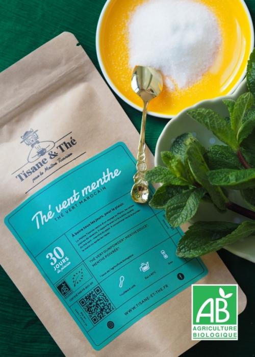 thé vert à la menthe tisane & thé maitre tisanier